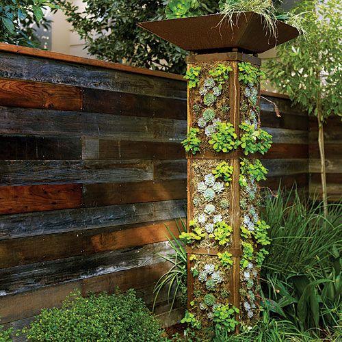 20+ Creative DIY Vertical Gardens For Your Home --> DIY Vertical Garden Tower