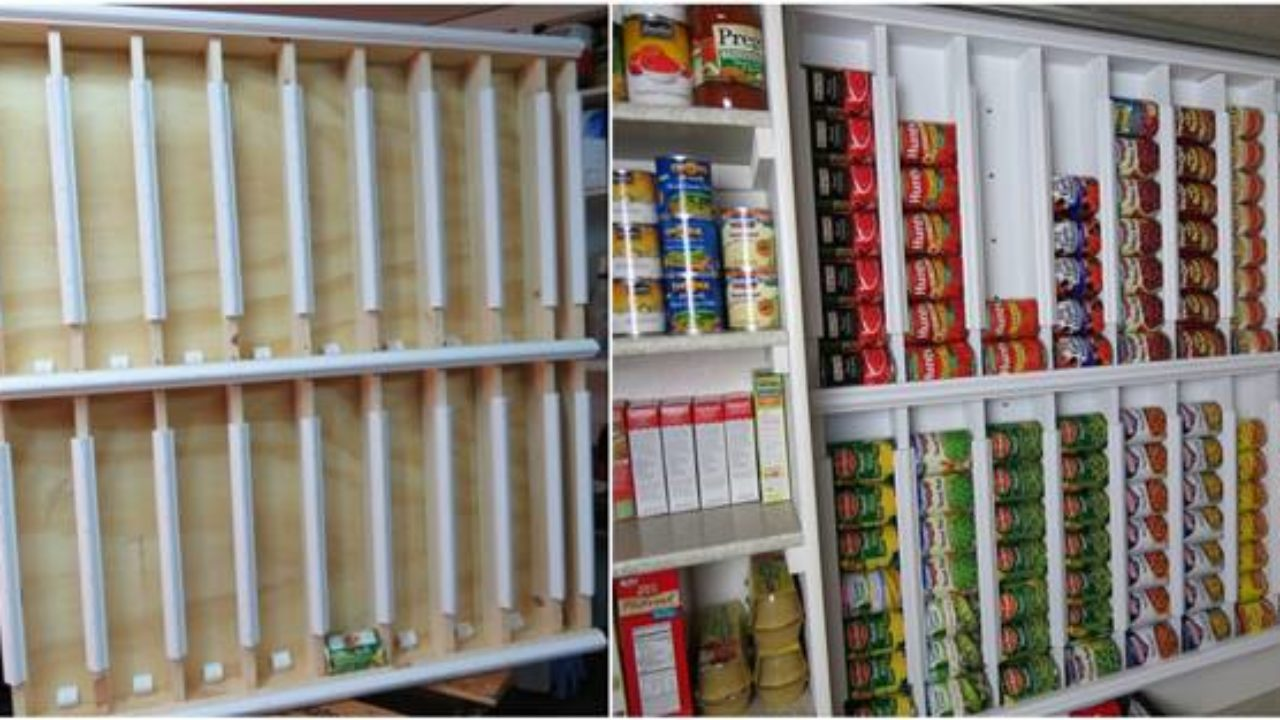 Diy Rotating Canned Food Storage System
