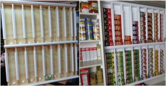 Creative Ideas Diy Rotating Canned Food Storage System
