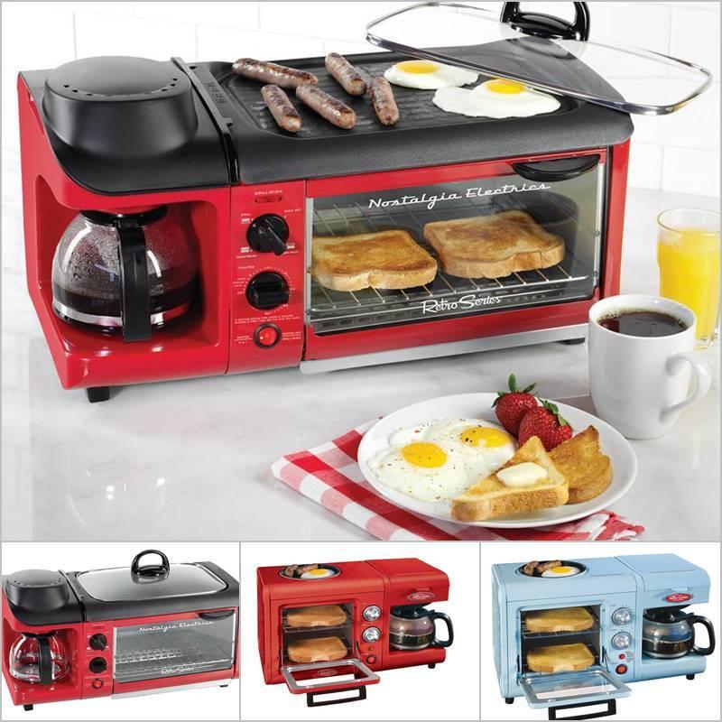 Creative Ideas Nostalgia Electrics 3 In 1 Breakfast Station