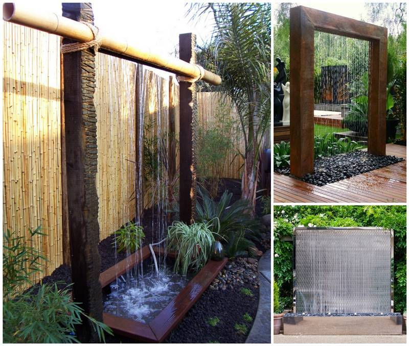 Creatve ideas diy stunning outdoor water wall for Backyard water fountain ideas