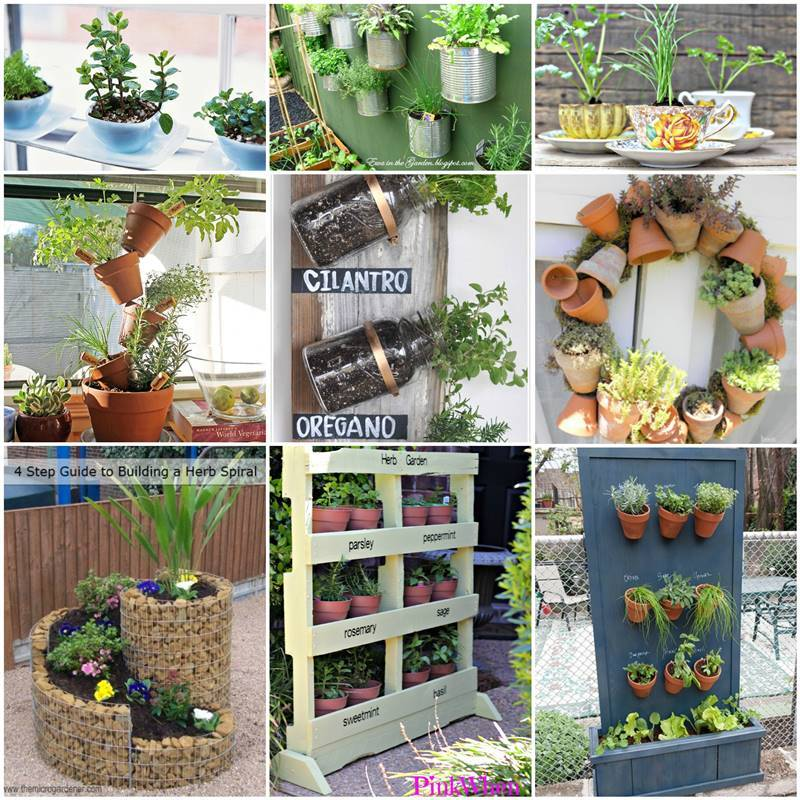35 creative diy herb garden ideas for Creative small garden ideas