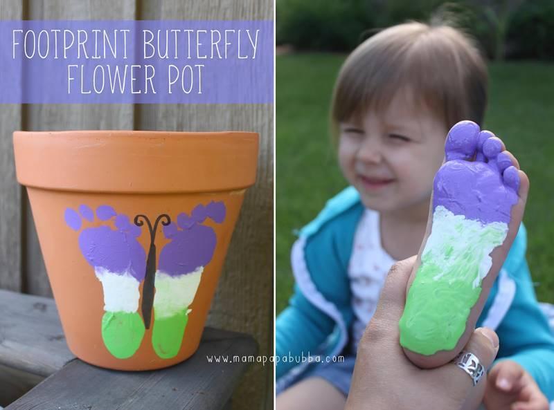 Creative Ideas - DIY Cute Footprint Butterfly Flower Pot