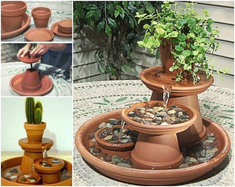 Genial Creative Ideas   DIY Terracotta Pot Water Fountain