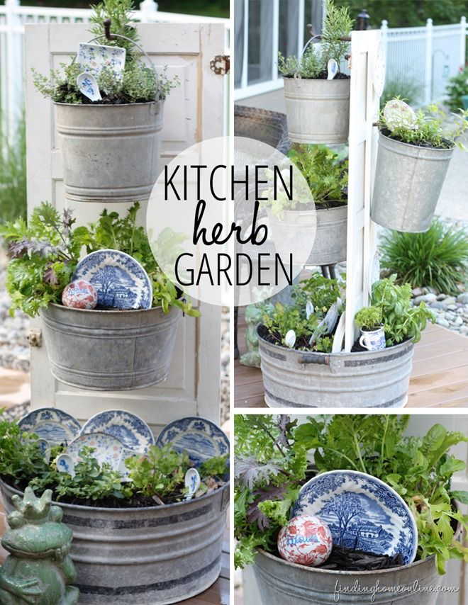 35+ Creative DIY Herb Garden Ideas --> DIY Backyard Kitchen Herb Garden