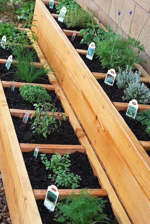 35+ Creative DIY Herb Garden Ideas --> Stacked Herb Bed