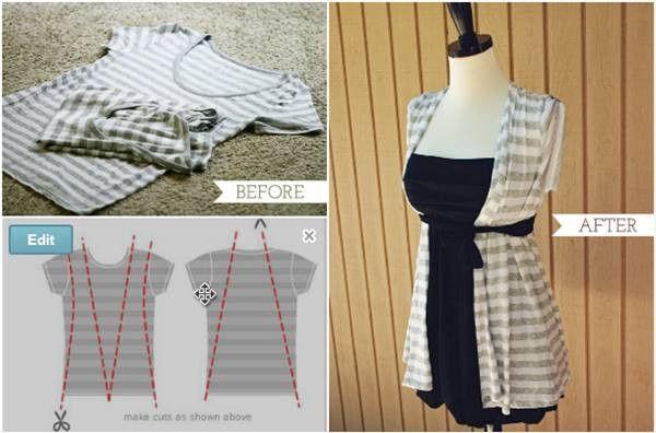 40+ Creative Ideas to Repurpose and Reuse Your Old T-shirts --> Upcycle T-shirts to Summer Vest