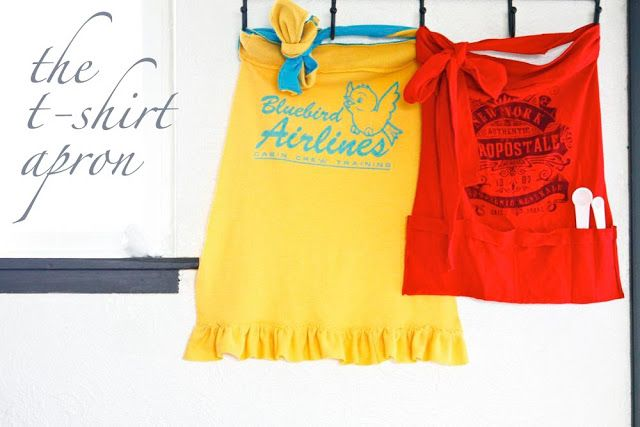 40+ Creative Ideas to Repurpose and Reuse Your Old T-shirts --> DIY Easy T-shirt Aprons
