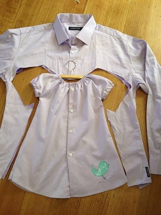 Creative Ideas - DIY Repurpose Men's Shirt Into Toddler Dress