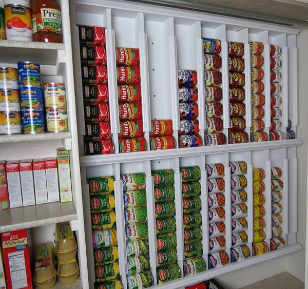 creative ideas diy rotating canned food storage system rh icreativeideas com