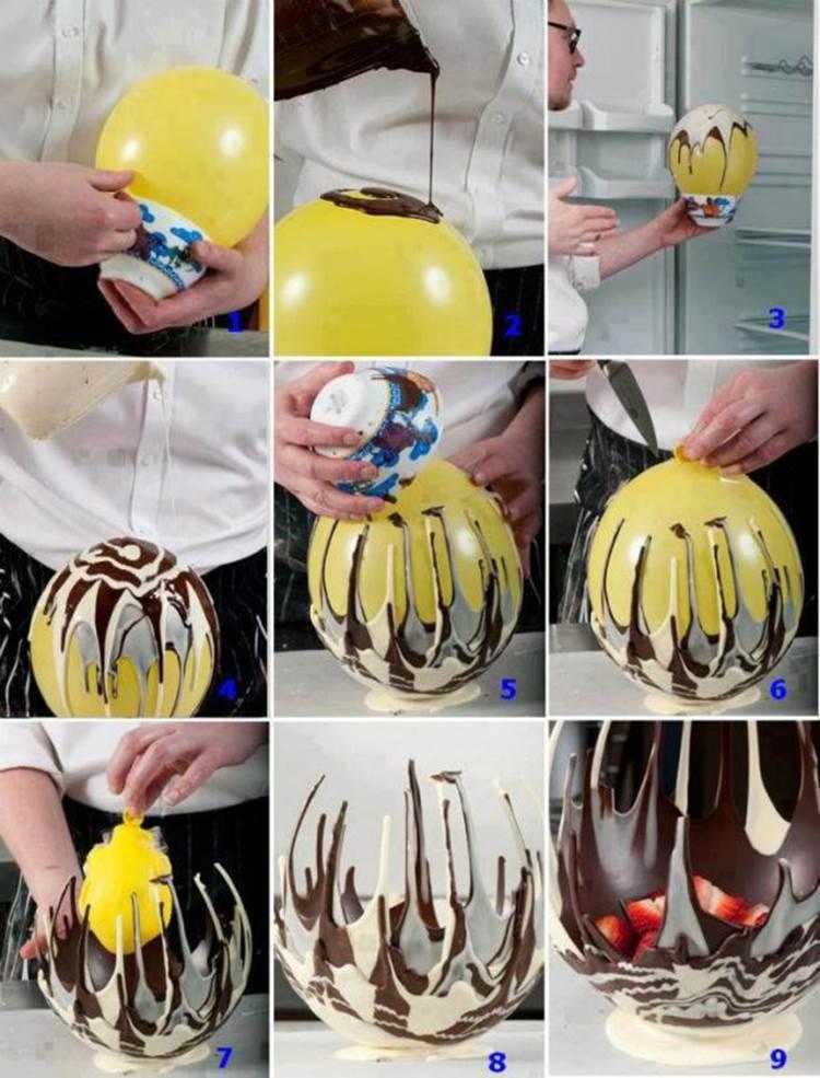 20 Creative DIY Ideas to Make a Unique Bowl --> How to Make a Chocolate Bowl