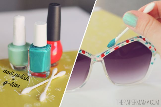 20+ Creative Uses of Nail Polish That You Need to Try --> DIY Painted Sunglasses