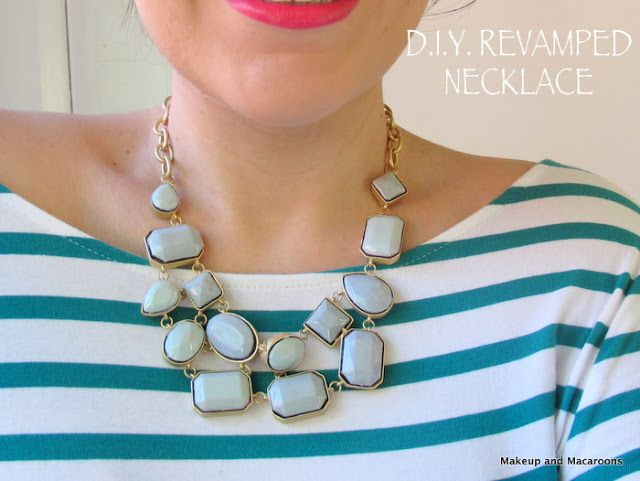 20+ Creative Uses of Nail Polish That You Need to Try --> DIY Revamp an Old Necklace with Nail Polish
