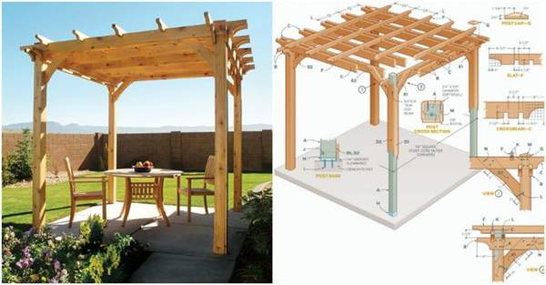 - Creative Ideas - DIY Backyard Pergola