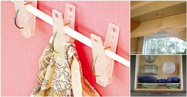 Creative Home Office Ideas: 20+ Creative Uses Of Tension Rods To Organize Your Home