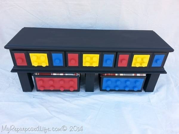 DIY Easy Lego Table for Kids --> Lego Table from Repurposed Dresser