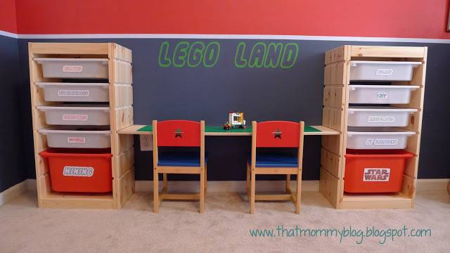 DIY Easy Lego Table for Kids --> Lego Storage and Play Table