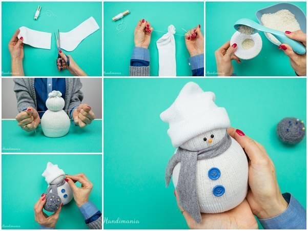 Creative Ideas Diy Easy No Sew Sock Snowman