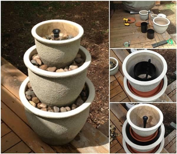 Creative Ideas - DIY Plant Pot Water Fountain