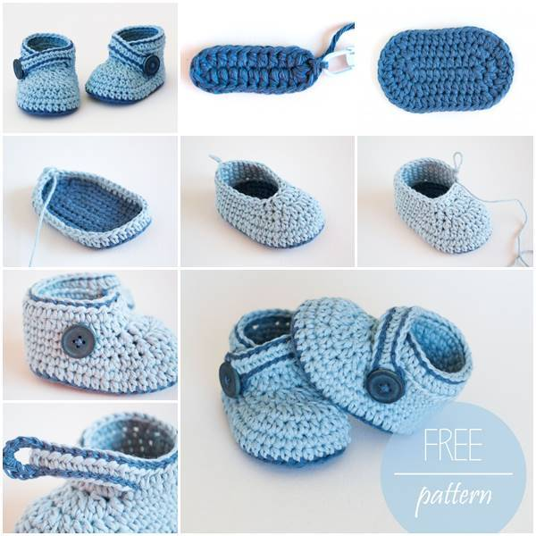 Creative Ideas - DIY Adorable Crochet Blue Whale Baby Booties