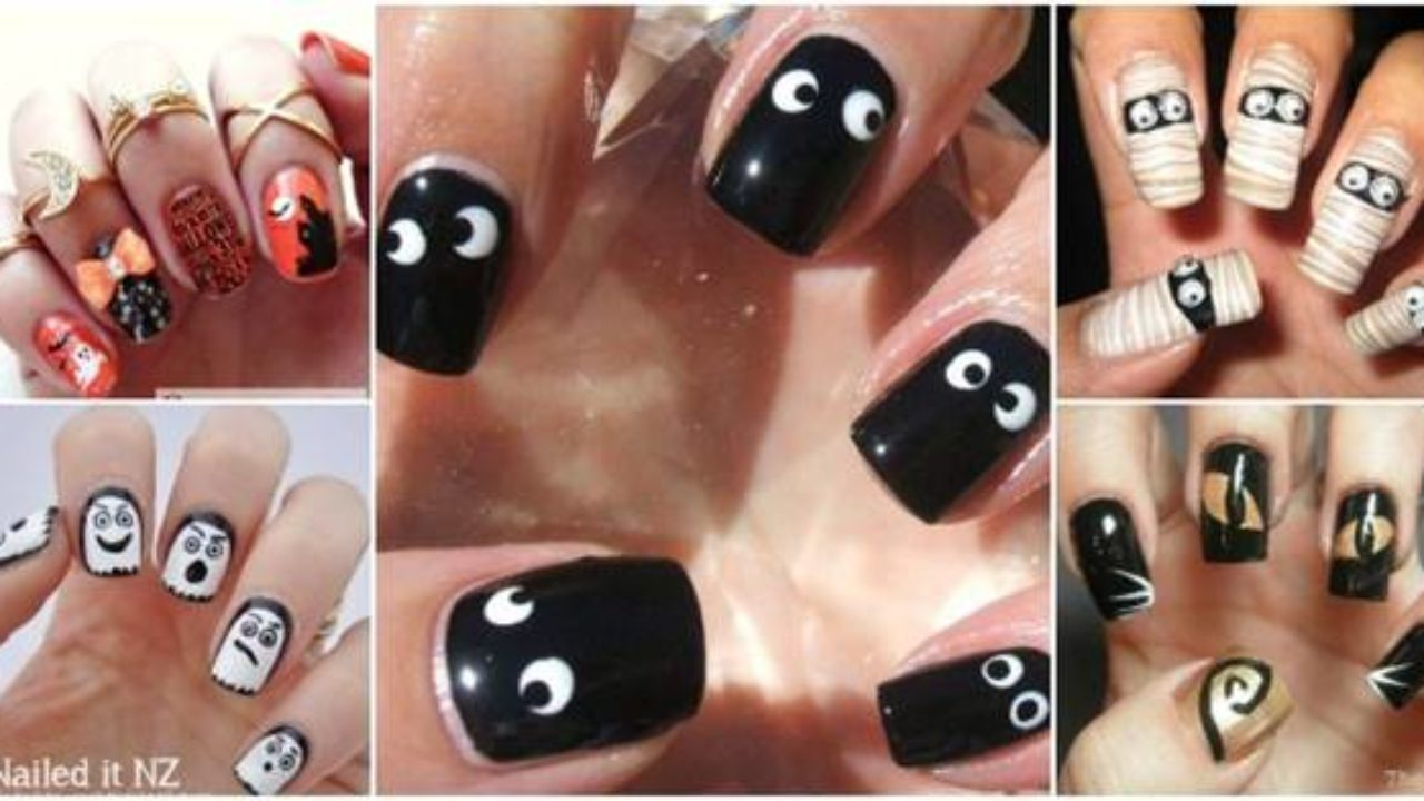 Step By Step Halloween Nail Art For Beginners - Nail Art Deba