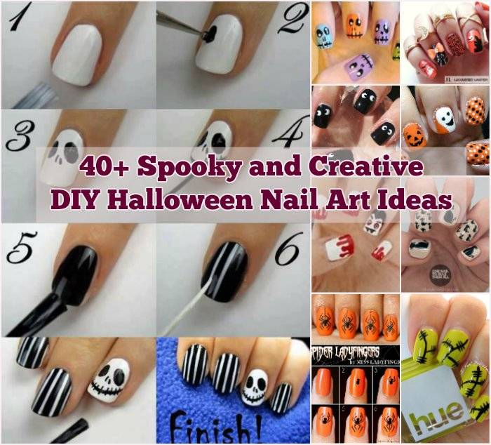 40+ Spooky and Creative DIY Halloween Nail Art Ideas