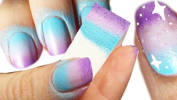 Creative Diy Nail Art Designs That Are Actually Easy To Do Sponge Galaxy