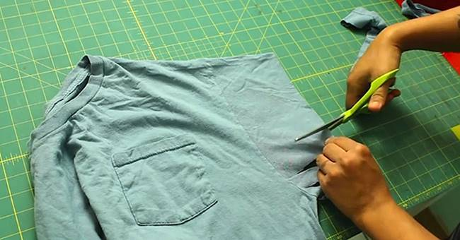 Creative Ideas - DIY No Sew Hobo Bag from Old T-shirt
