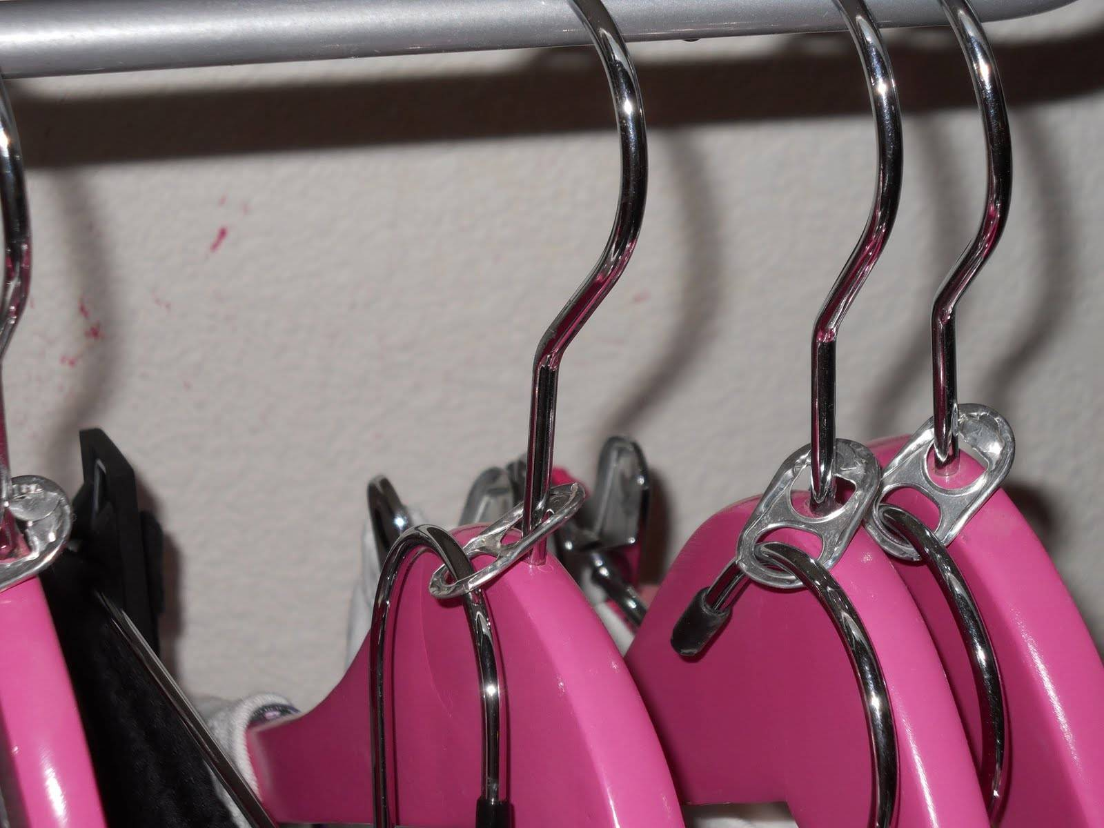 35+ Useful Clothing Hacks Every Woman Should Know --> DIY double clothes hangers with pop tabs