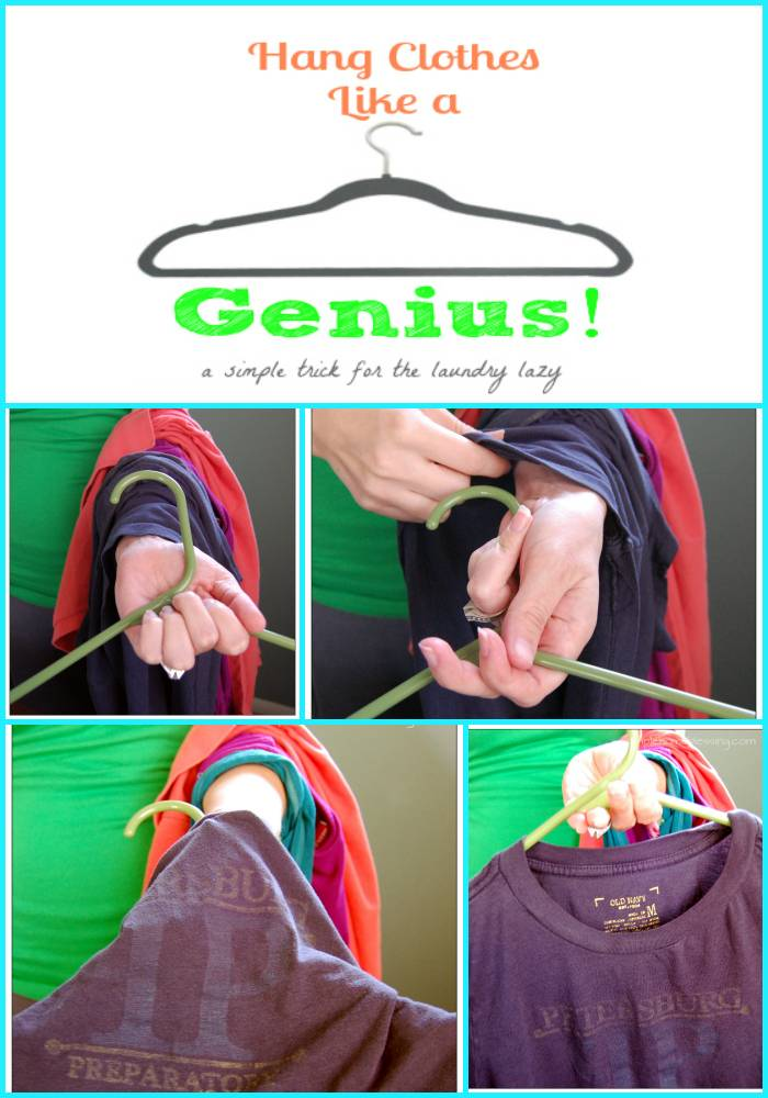 35+ Useful Clothing Hacks Every Woman Should Know --> Smart way to hang cloths