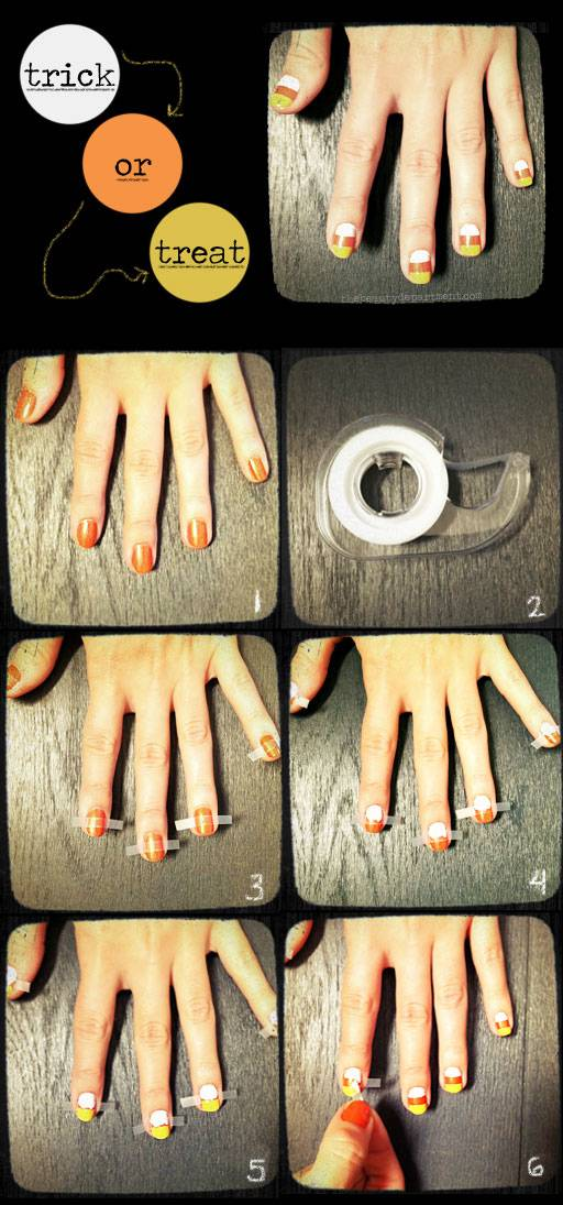 40 spooky and creative diy halloween nail art ideas 40 spooky and creative diy halloween nail art ideas candy corn manicure prinsesfo Gallery