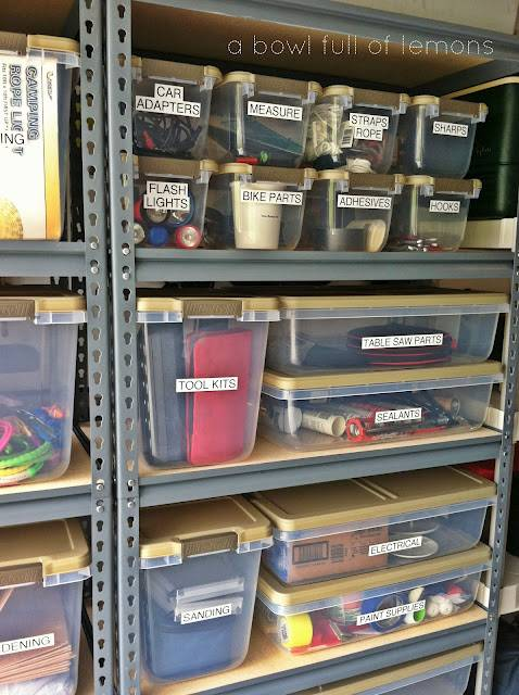 30+ Creative Ways to Organize Your Garage --> Label everything so you know where to look for the things you want