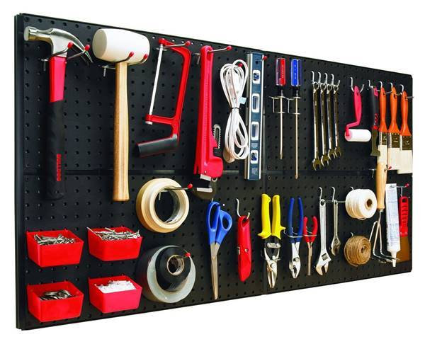 30+ Creative Ways to Organize Your Garage --> Make use of the vertical space in your garage and organize your tools with a pegboard
