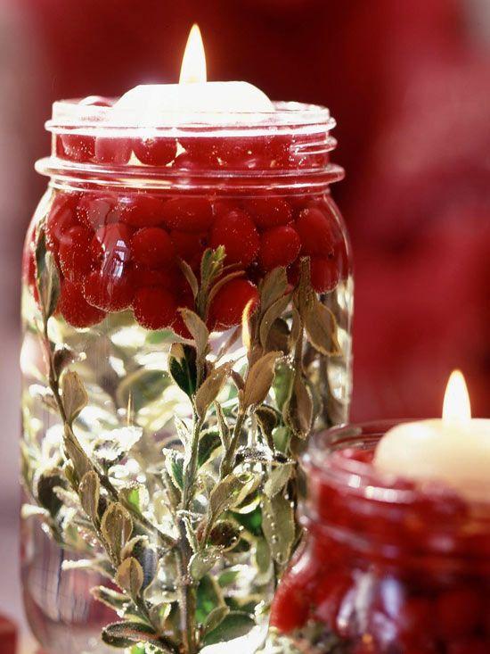 40+ Creative DIY Holiday Candles Projects --> Illuminating Holiday Jars