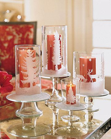 40+ Creative DIY Holiday Candles Projects --> Glittered Candleholders