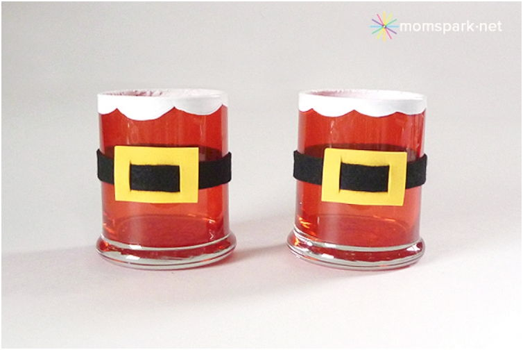 40+ Creative DIY Holiday Candles Projects --> Stained Santa Votives