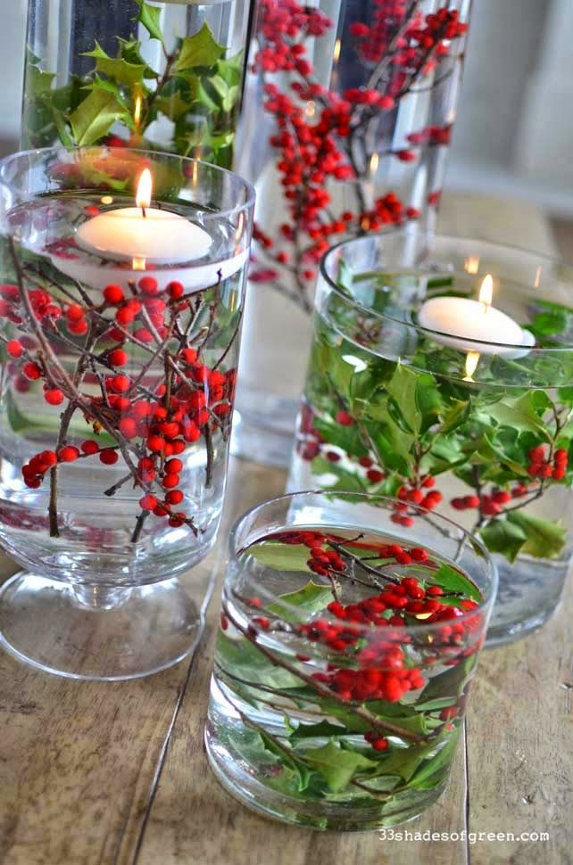 40+ Creative DIY Holiday Candles Projects --> Easy Holiday Centerpieces