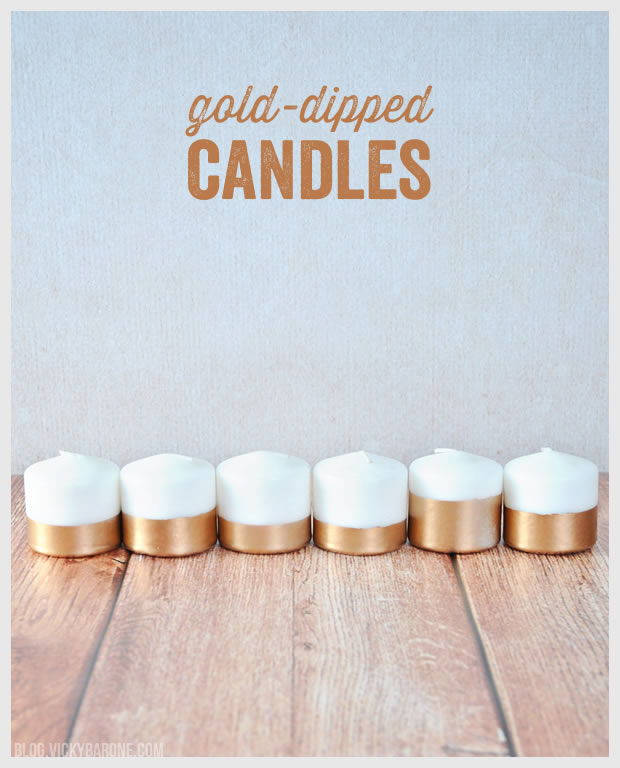 40+ Creative DIY Holiday Candles Projects --> DIY Gold-Dippe Candles