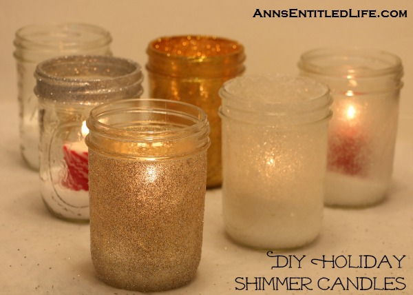 40+ Creative DIY Holiday Candles Projects --> DIY Holiday Shimmer Candles