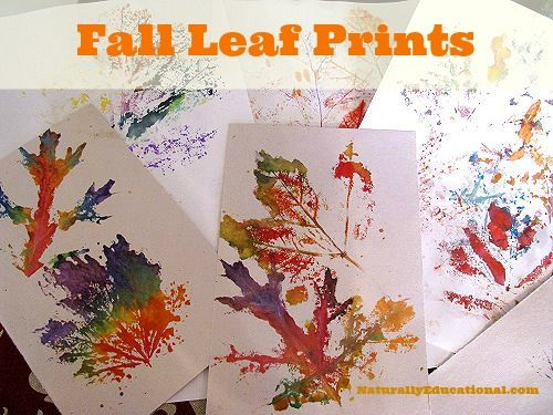 40+ Creative DIY Craft Projects with Fall Leaves --> Painting with Fall Leaf Prints