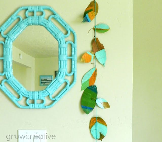 40+ Creative DIY Craft Projects with Fall Leaves --> Painted Fall Leaves