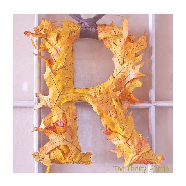 40+ Creative DIY Craft Projects with Fall Leaves --> Fall Leaf Letter