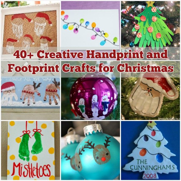 40 Christmas Craft Ideas To Try This Year: 40+ Creative Handprint And Footprint Crafts For Christmas