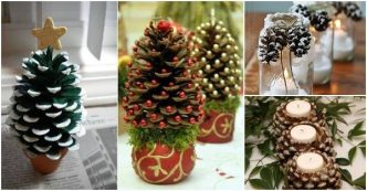 I creative ideas page 24 of 215 creative ideas and diy for Holiday craft ideas with pine cones