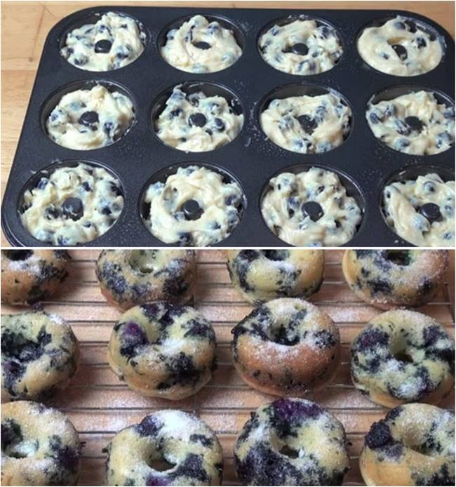 Creative Ideas – DIY Delicious Oven Baked Blueberry Donuts