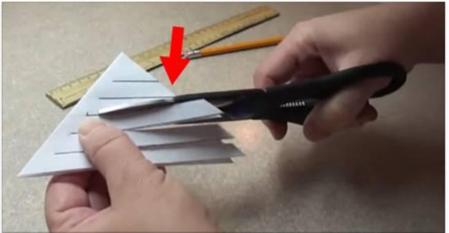 Creative Ideas - DIY Lacy Paper Snowflake Ornament