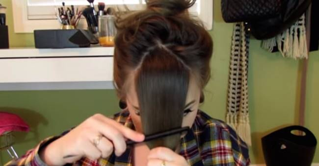 Creative Ideas - How to Cut Your Own Bangs
