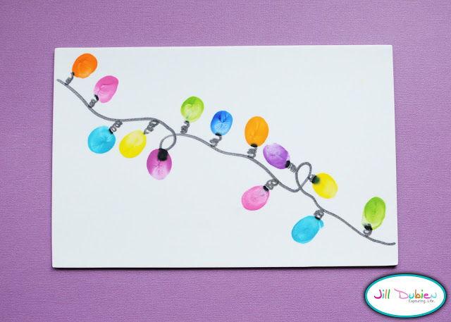 40 creative handprint and footprint crafts for christmas thumbprint christmas lights