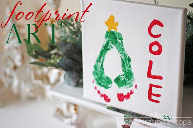 40 creative handprint and footprint crafts for christmas christmas tree footprint art