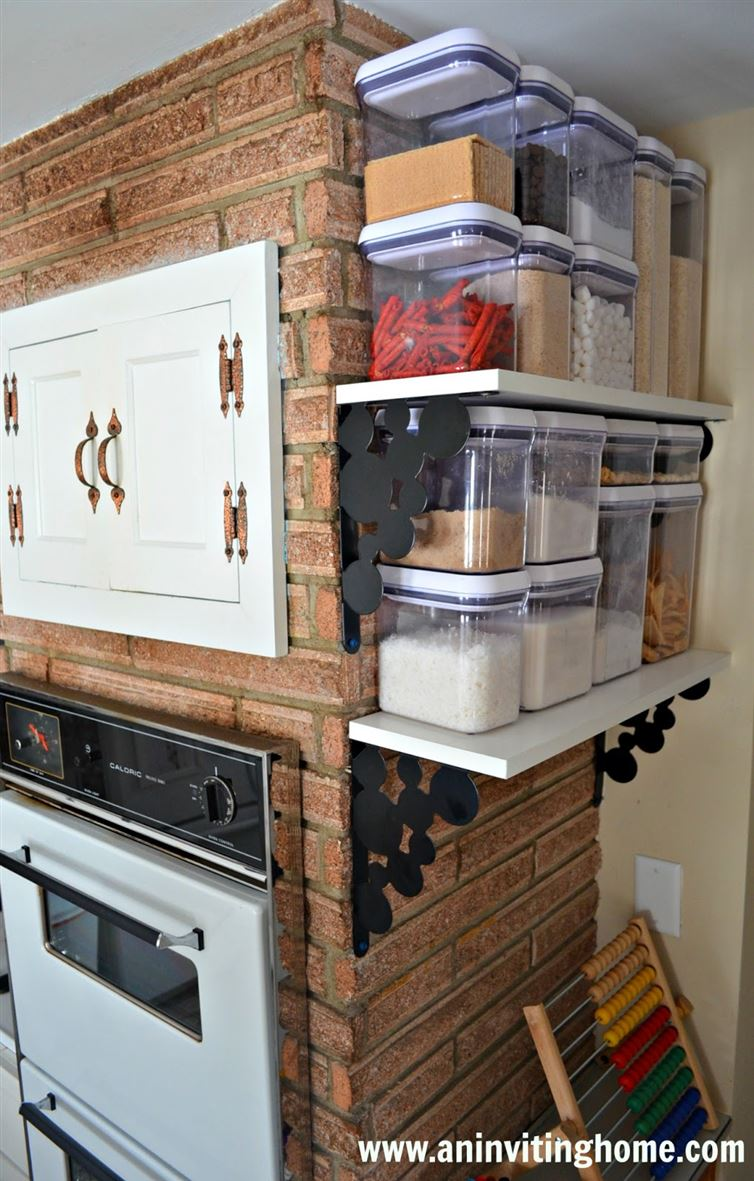 40+ Organization and Storage Hacks for Small Kitchens --> No pantry? You can build shelves and gain some great pantry like storage